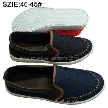 Deslizamento dos homens novos da forma do estilo em sapatas ocasionais do denim de Sheos (MP16721-12)