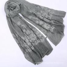 Lady fashion 180*90size weight 100 gorganic cotton scarf women cotton hijab scarf
