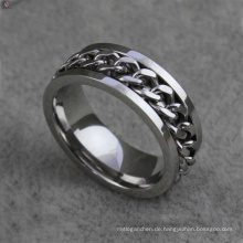 Einzigartige Edelstahlkette Ringe Schmuck, flexible Ring Schmuck