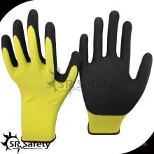 SRSAFETY sandy finish nitrile coated gripper gloves/safety gloves