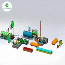 Máquina de la refinería de petróleo del aceite de la pirólisis del neumático con un mejor funcionamiento