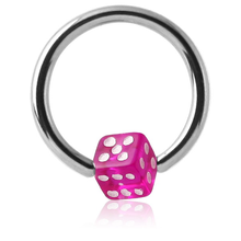 Surgical Steel Ball Closure with UV Dice