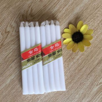Box Pack Non Drip Round White Pillar kaarsen