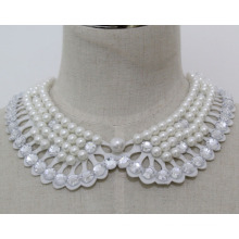 Woman Fashion Costume Jewelry Pearl Chunky Necklace Collar (JE0146)