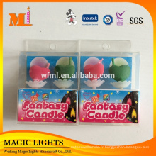 Caractéristique de flamme de couleur et bougies uniques de gâteau d'anniversaire d'utilisation d'anniversaire avec des certificats de haute qualité