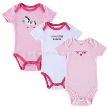 2017 Plain White Pink 100% Cotton Infant Clothes Girls One-piece Baby Rompers Blanks For 0-12 Month Kids