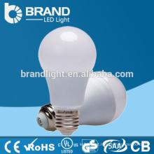 Brilho elevado Plástico + alumínio 9W E27 A60 Luz de bulbo do diodo emissor de luz, CE RoHS