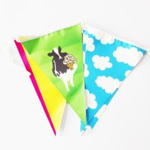 pvc triangle coloré anniversaire fanion bunting flags