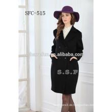 Damen neuesten Mantel Design reine Wolle