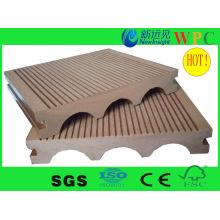 Decking composto ao ar livre popular do WPC com CE, SGS, Europa Stnadard