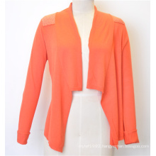 100%Cotton Fashion Hot Sale Knit Open Cardigan for Women