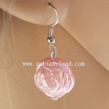 Populaire ABS Faux parel Rose Beaded Earrings