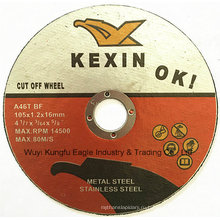 2016 горяч-продавая 4 дюйма круглый подрезки диск для нержавеющей стали