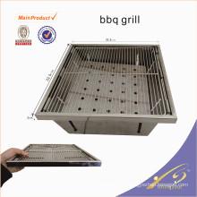 BBQ001 Mini parrilla de carbón de leña portátil de acero inoxidable para la pesca