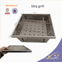 BBQ001 Mini stainless steel portable charcoal bbq grill for fishing