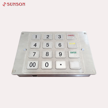 ATM Keypad PCI Metal Encryption Pinpad للكشك