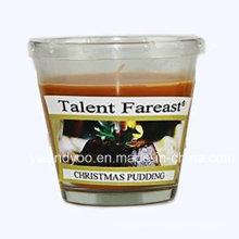 Weihnachtspudding-Soja-duftende Glaskerze