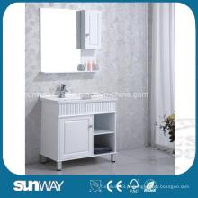 Gabinete de banheiro MDF de pintura de alto brilho