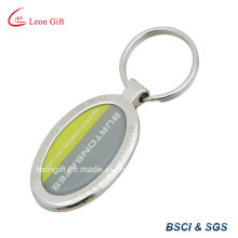 Metal Epoxy Keyring with Sticker