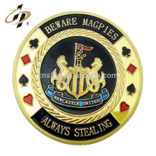 Wholesale cheap custom metal enamel 3d dubai las vegas gambling town souvenir token coin