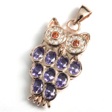 Bijoux Fashion Owl Pendentif avec pierres précieuses Stone