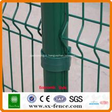 Clôture de fil enduite de PVC vert