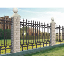 Assembling Powder Coated Galvanized Steel Commercial Fence