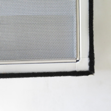 Insect mosquito net screen door with weather strip