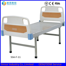 ABS Head/Foot Board Flat Medical Bed with Best Price