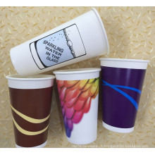 8-22oz Double Wall Coffee Cup com único revestimento PE