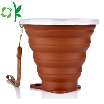 Silicone Folding Drinking Cup Piala Travel Retractable