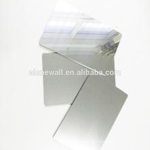 Sliver miroir panneau mural en aluminium panneaux composites