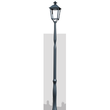 Non-welded Lightweight Aluminum alloy spinning lighting pole