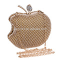 Apple Shape Women's Evening Dinner Clutch Bag Bride Bag For Wedding Evening Party Bridal HandBags B00144 diamond clutch purses