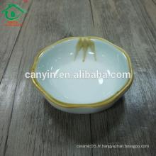 Petit plat de sauce de soie en céramique