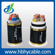 L'OEM et l'ODM isolés de câble d'alimentation électrique de conducteur du cuivre XLPE 5-35kV directement