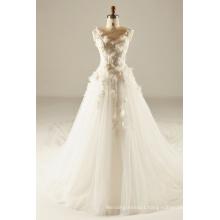 3D Flower Bodice Wedding Gown