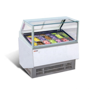 pintu kaca freezer menampilkan display komersial