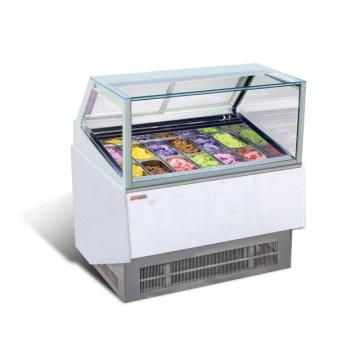 ice cream refrigerator display showcase
