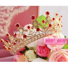 Acessórios de cabelo vermelho princesa crianças tiaras e coroas baratos
