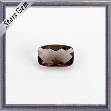 Coffee Color Cushion Checker Cut Cristal transparente