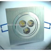 Squre LED Einbauleuchte 3W / 6W dekorative Deckenbalken
