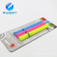 Высокое качество разноцветные Highlighter маркер ручка, Блистерные карты упаковка Highlighter перо набор