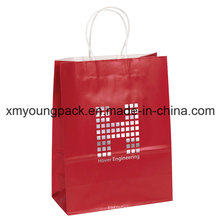 Promotional Customized Printed Red Craft Paper Gift Bag