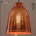 Bronze and Round Hollow Pendant Light with Dining Room