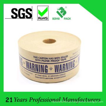 O logotipo feito sob encomenda imprimiu a fita de papel reforçada fibra de vidro da prova de Pilfer