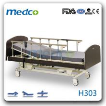 H303 Hot! Três funções cama paciente elétrico com rodas