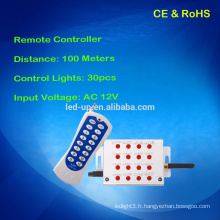 Un ensemble pour le contrôleur reçu et télécommandé, le contrôleur 30pcs s'allume pour la télécommande légère et fixe de 100 m de distance