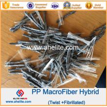 Fibra Macro Fibra de Polipropileno de Macrofiber PP
