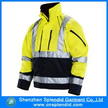 2016 Custom Men′s Waterproof High Vis Reflective Jacket